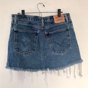 LEVI'S VINTAGE 505 Frayed Denim Skirt - PLUS SIZE